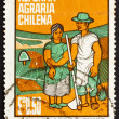 Postage stamp Chile 1968 Farm Couple — Stock Photo