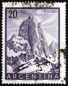 Postage stamp Argentina 1955 Mt. Fitz Roy, Mountain in Patagonia — Stock Photo