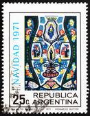 Timbre-poste argentine 1971 christ en majesté, noël — Photo