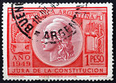 Postage stamp Argentina 1949 Allegory of Liberty — Stock Photo