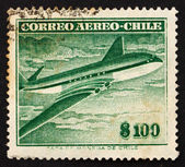 Postage stamp Chile 1955 Comet Air Liner — Stock Photo