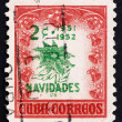 Postage stamp Cuba 1951 Poinsettia, Christmas — Stock Photo