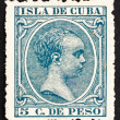 Postage stamp Cuba 1896 Alfonso XIII, King of Spain — Stock Photo