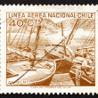 Стоковое фото: Postage stamp Chile 1965 Fishing Boats, Angelmo Harbor