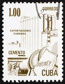 Frimärke kuba 1982 cement, kubanska exportera — Stockfoto
