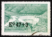 Postage stamp Chile 1969 Rapel Hydroelectric Plant — Stock Photo