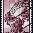 Royalty-Free Stock Photo: Postage stamp Italy 1945 Italia and Sprouting Oak Stump