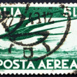 Stock Photo: Postage stamp Italy 1945 Swallows in Flight
