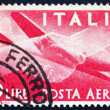 Postage stamp Italy 1945 Plane and Clasped Hands — Stock Photo