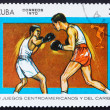 Stock Photo: Postage stamp Cub1970 Boxing