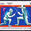 Stock Photo: Postage stamp Cub1970 Fencing