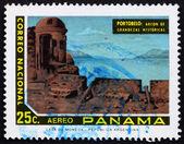 Briefmarke panama 1972 ansicht von portobelo, panama — Stockfoto