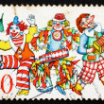 Postage stamp Germany 1972 Carnival Dancers — Stock Photo
