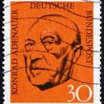Постер, плакат: Postage stamp Germany 1968 Konrad Adenauer Chancellor