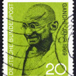 Stock Photo: Postage stamp Germany 1969 Mahatma Gandhi
