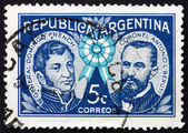 Briefmarke argentinien 1941 allgemeine domingo französisch — Stockfoto