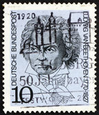Znaczek niemcy 1970 ludwiga van beethovena — Zdjęcie stockowe