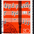 Стоковое фото: Postage stamp Germany 1962 Notes and Tuning Fork