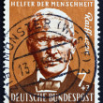 Постер, плакат: Postage stamp Germany 1958 Friedrich Wilhelm Raiffeisen