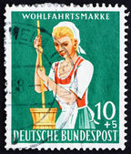 Postage stamp Germany 1958 Dairy Maid — Stock Photo