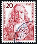 Postage stamp Germany 1957 Paul Gerhardt, hymn Writer — Stock Photo