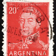 Stock Photo: Postage stamp Argentin1954 Jose de SMartin, General