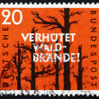 Stock Photo: Postage stamp Germany 1958 Prevent Forest Fires