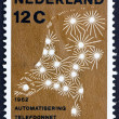 Postage stamp Netherlands 1962 Map Showing Telephone Network — стоковое фото #12701228