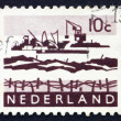 Postage stamp Netherlands 1963 Dredging in Delta — Stock Photo #12701261
