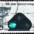 Stock Photo: Postage stamp Netherlands 1964 Railroad Light Signal