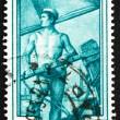 Postage stamp Italy 1950 Sailor Steering Boat, Veneto — Stock Photo