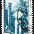 Postage stamp Italy 1950 Shipbuilding, Liguria - Stock Photo
