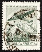 Avion argentine 1946 timbre-poste sur la cordillère des andes — Photo