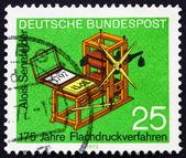 Postzegel duitsland 1972 senefelder — Stockfoto