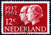 Postage stamp Netherlands 1962 Queen Juliana and Prince Bernhard — Stock Photo