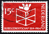 Postage stamp Netherlands 1964 Bible, Chrismon and Dove — Stock Photo