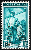 Postage stamp Italy 1950 Sailor Steering Boat, Veneto — Stock Photo