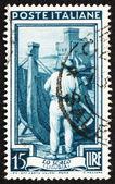 Postage stamp Italy 1950 Shipbuilding, Liguria — Stock Photo