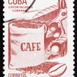 poštovní známka Kuba 1982 káva, kubánský exportu — Stock fotografie
