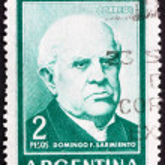 Постер, плакат: Postage stamp Argentina 1962 Domingo Faustino Sarmiento