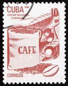Café de timbre-poste cuba 1982, les exportations cubaines — Photo