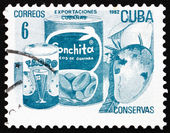 Postage stamp Cuba 1982 Canned Fruits, Cuban Export — Stock Photo