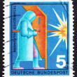Stock Photo: Postage stamp Germany 1970 Welder, Industrial Protection