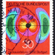 Postage stamp Germany 1969 Diagram of Electromagnetic Field — Stock Photo #13117640
