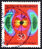 Postage stamp Germany 1969 Diagram of Electromagnetic Field — Stock Photo