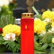 Votive candle - Stock Photo