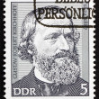 Stock Photo: Postage stamp GDR 1974 Gustav Robert Kirchhoff, Physicist