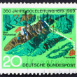 Stock Photo: Postage stamp Germany 1969 Brine Pipeline