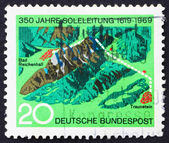 Postage stamp Germany 1969 Brine Pipeline — Stock Photo