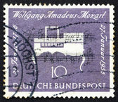 Postage stamp Germany 1956 Clavichord, Musical Instrument — Stock Photo